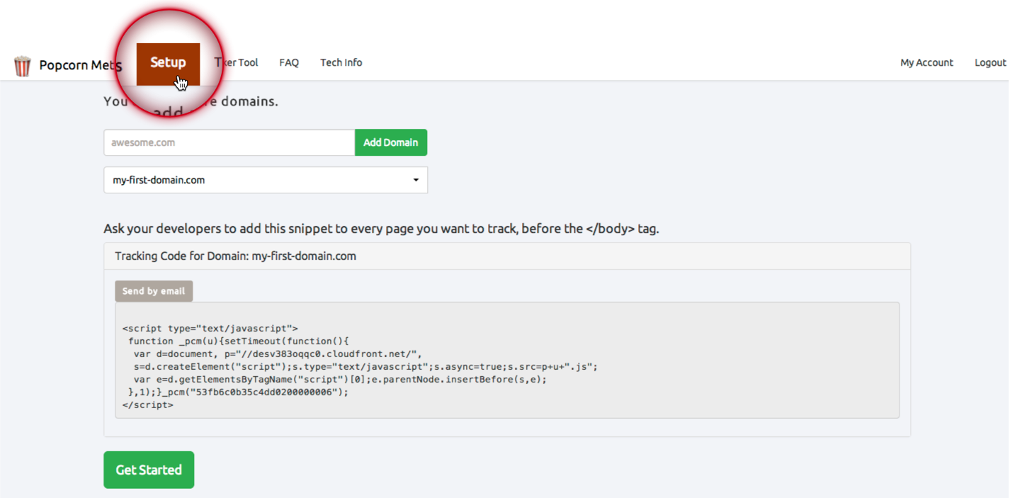 Add a small snippet of code to your website, or email to your developer.
