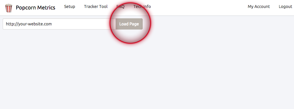 Load Page in Tracker Tool